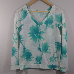 3/$20 Maurices Palm Tree Print Top